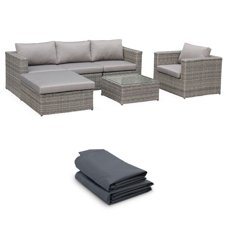 Romini: 5-Seater Round Rattan Garden Sofa Set With Table ... dedans Alice Garden Caligari