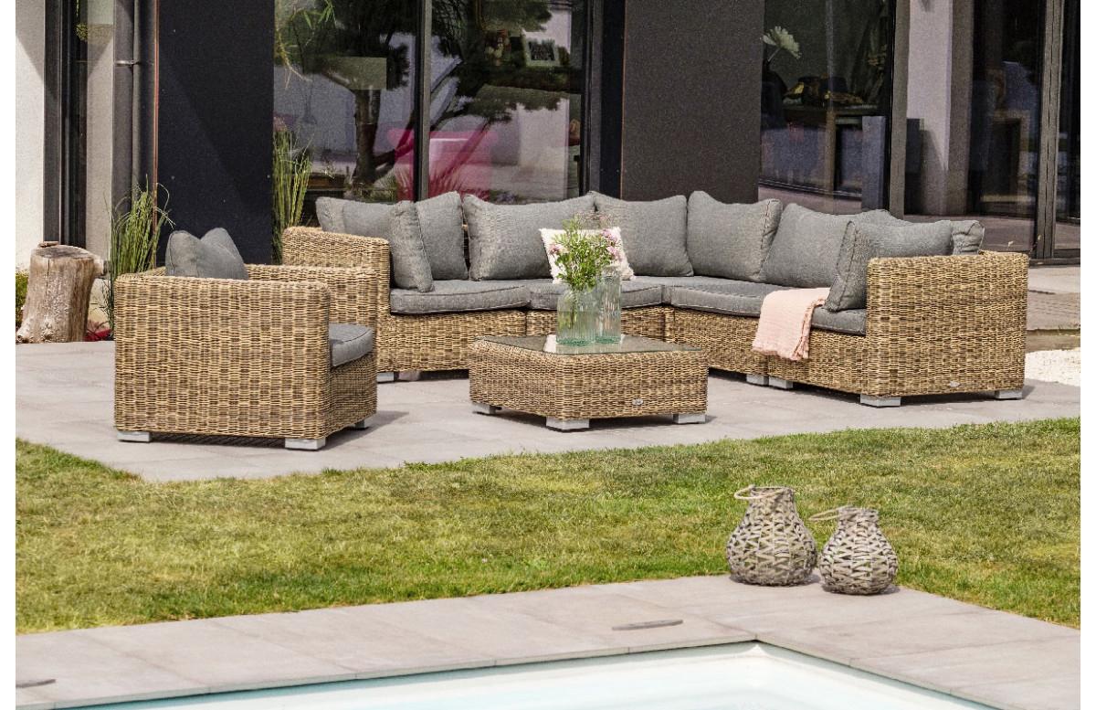 Salon De Jardin 6 À 8 Places En Résine Tressée avec Mobilier De Jardin Design De Luxe
