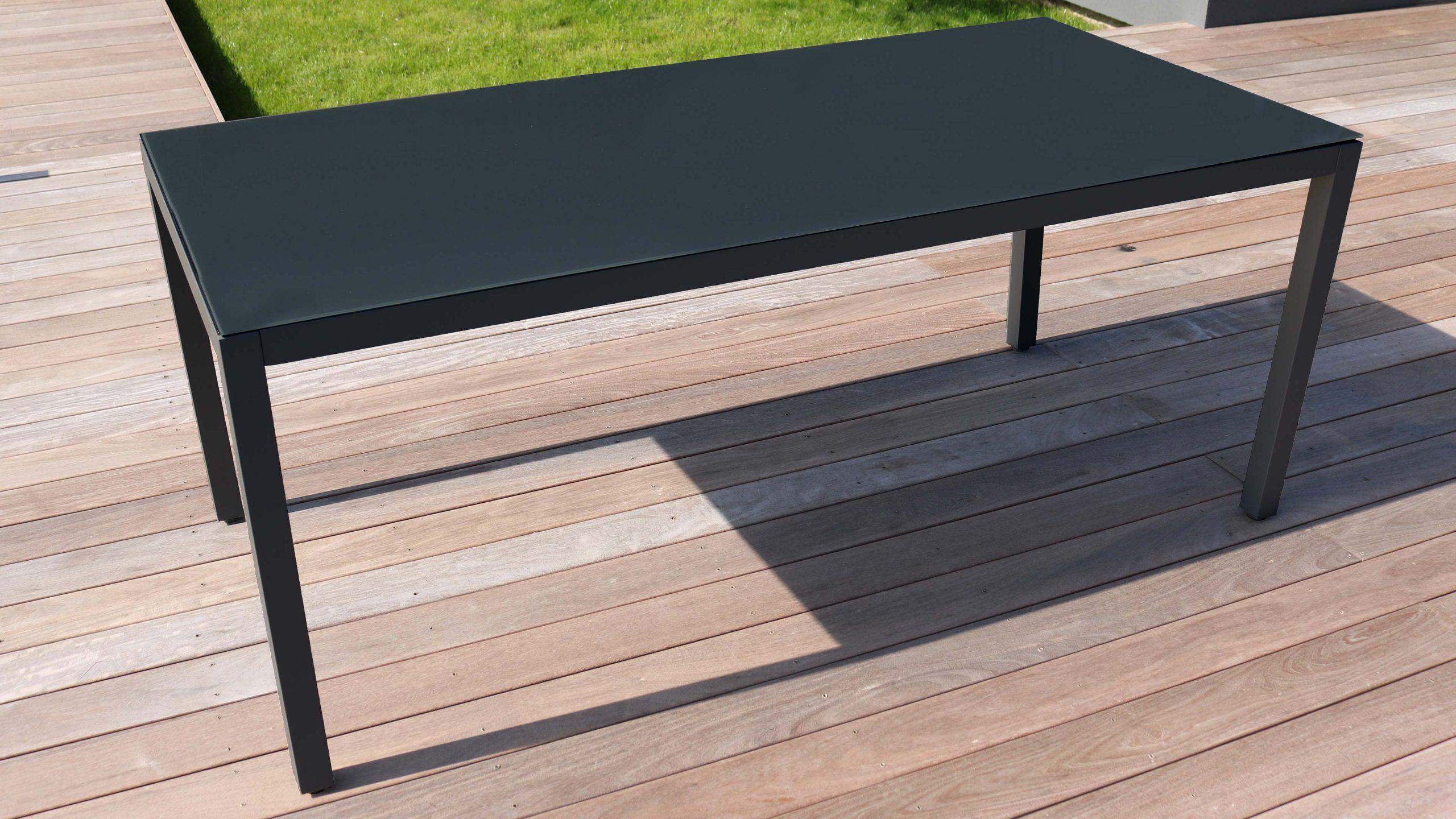 Salon De Jardin Aluminium Table De Jardin 8 Places pour Table De Jardin En Aluminium