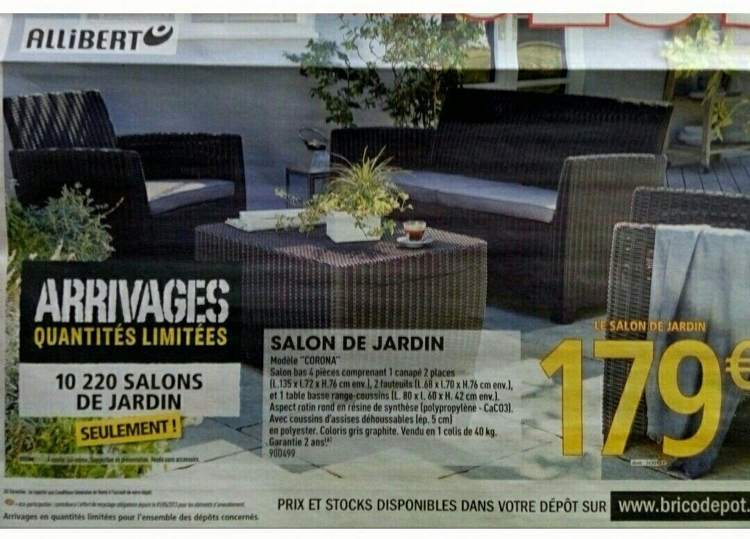 Salon De Jardin California Brico Depot Luxe Salon De Jardin ... avec Salon De Jardin Resine Brico Depot