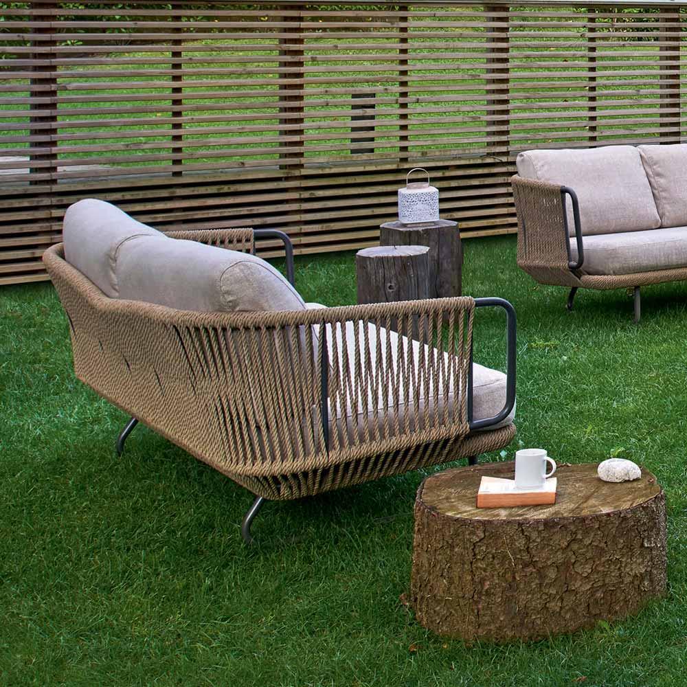 Salon De Jardin De Design Moderne, Base En Aluminium Modèle Varaschin  Babylon pour Mobilier De Jardin Moderne