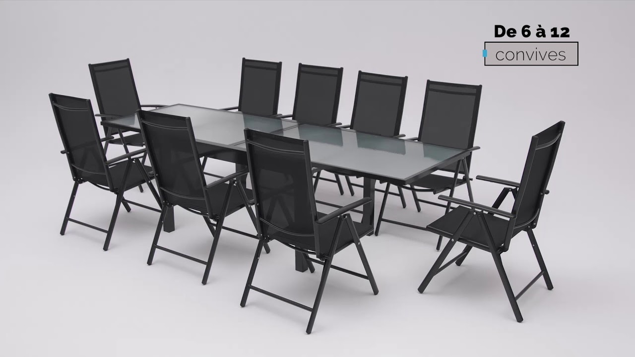 Salon De Jardin En Aluminium Bobochic® dedans Table De Jardin En Aluminium