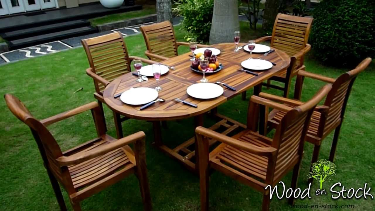 Salon De Jardin En Teck Bali-Raja-Huilé.m2Ts tout Salon De Jardin Bali