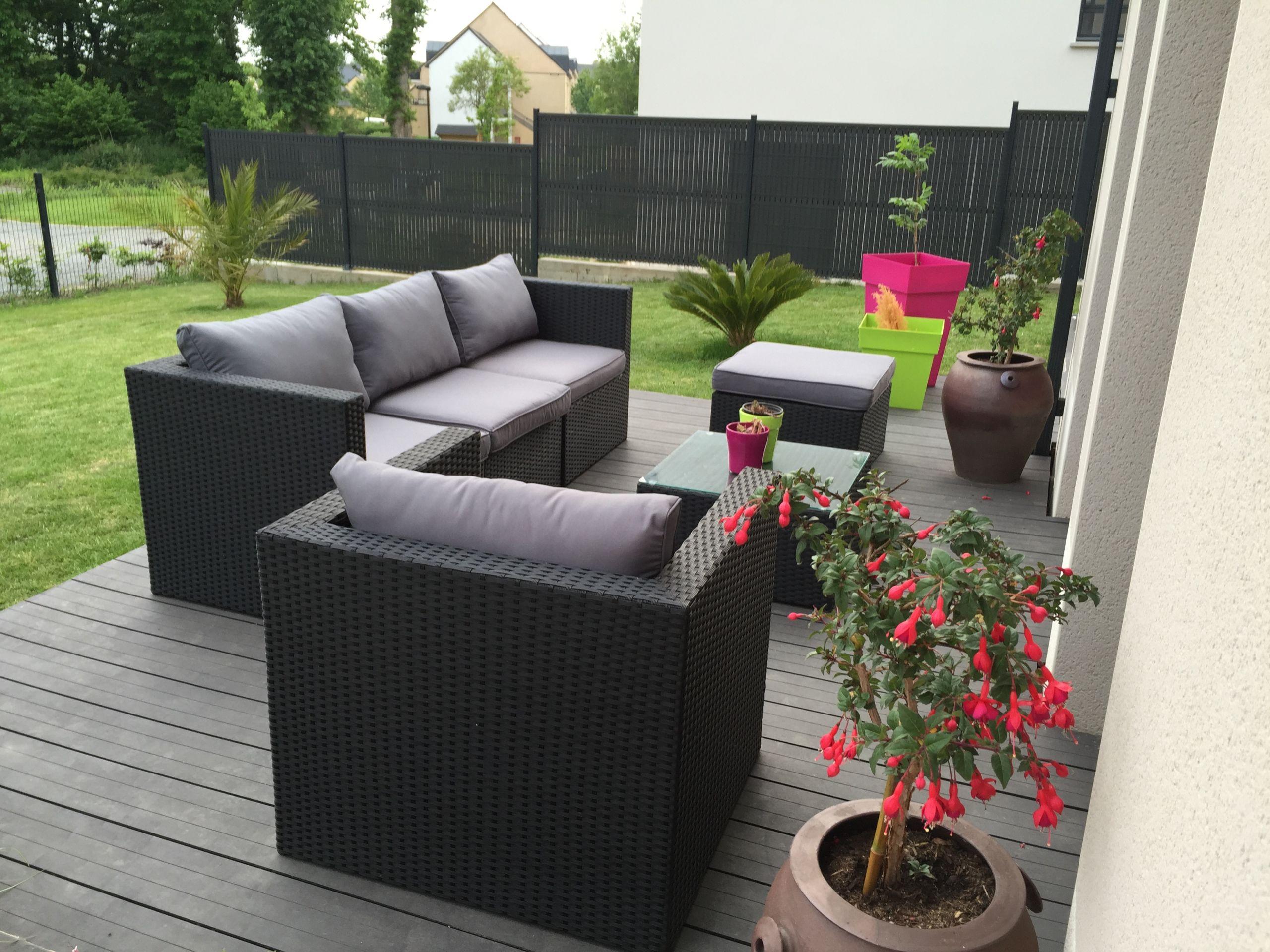 Salon De Jardin Resine Blanc Beau Dalle Terrasse Ikea ... dedans Salon De Jardin Ikea