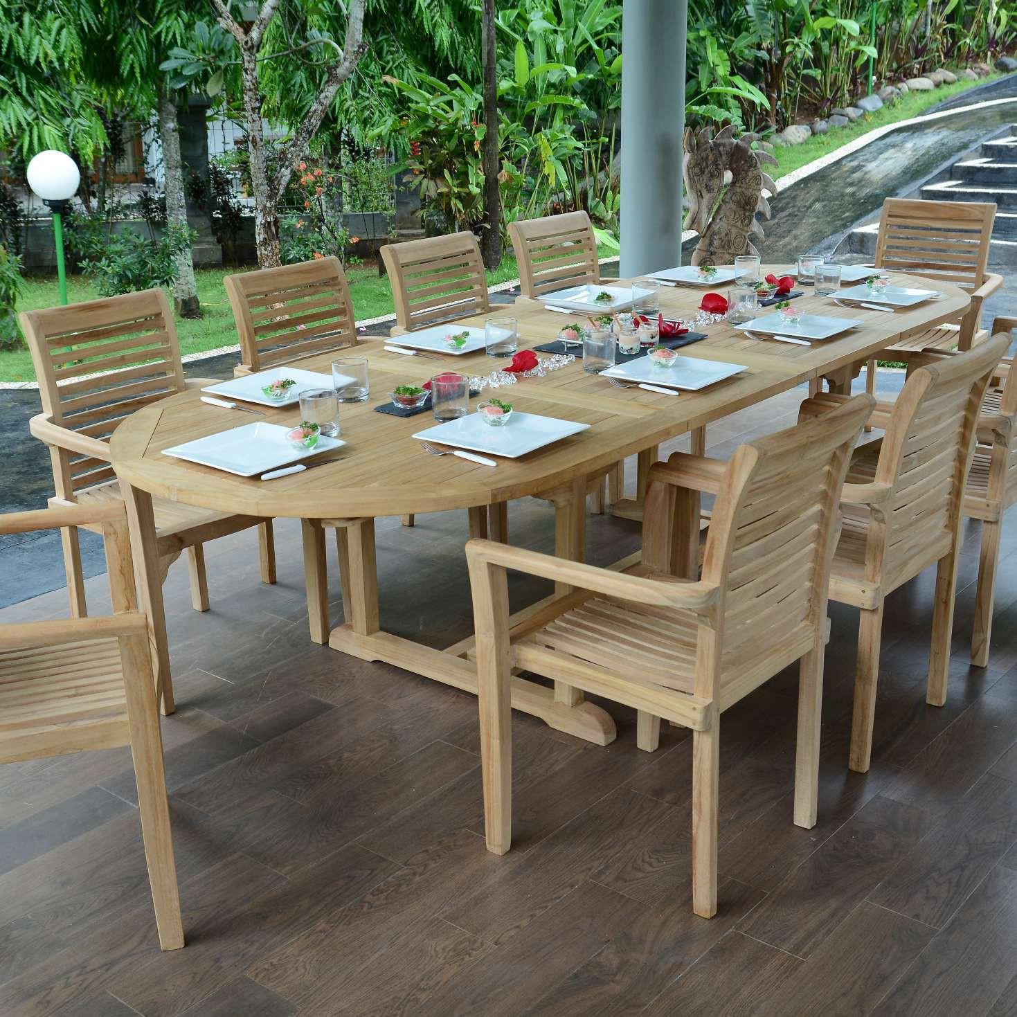 Salon De Jardin Teck Ecograde Venise, 10 Fauteuils concernant Salon De Jardin De Qualité