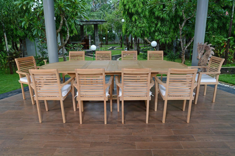 Salon De Jardin Teck Ecograde Venise, 10 Fauteuils serapportantà Salon De Jardin De Qualité