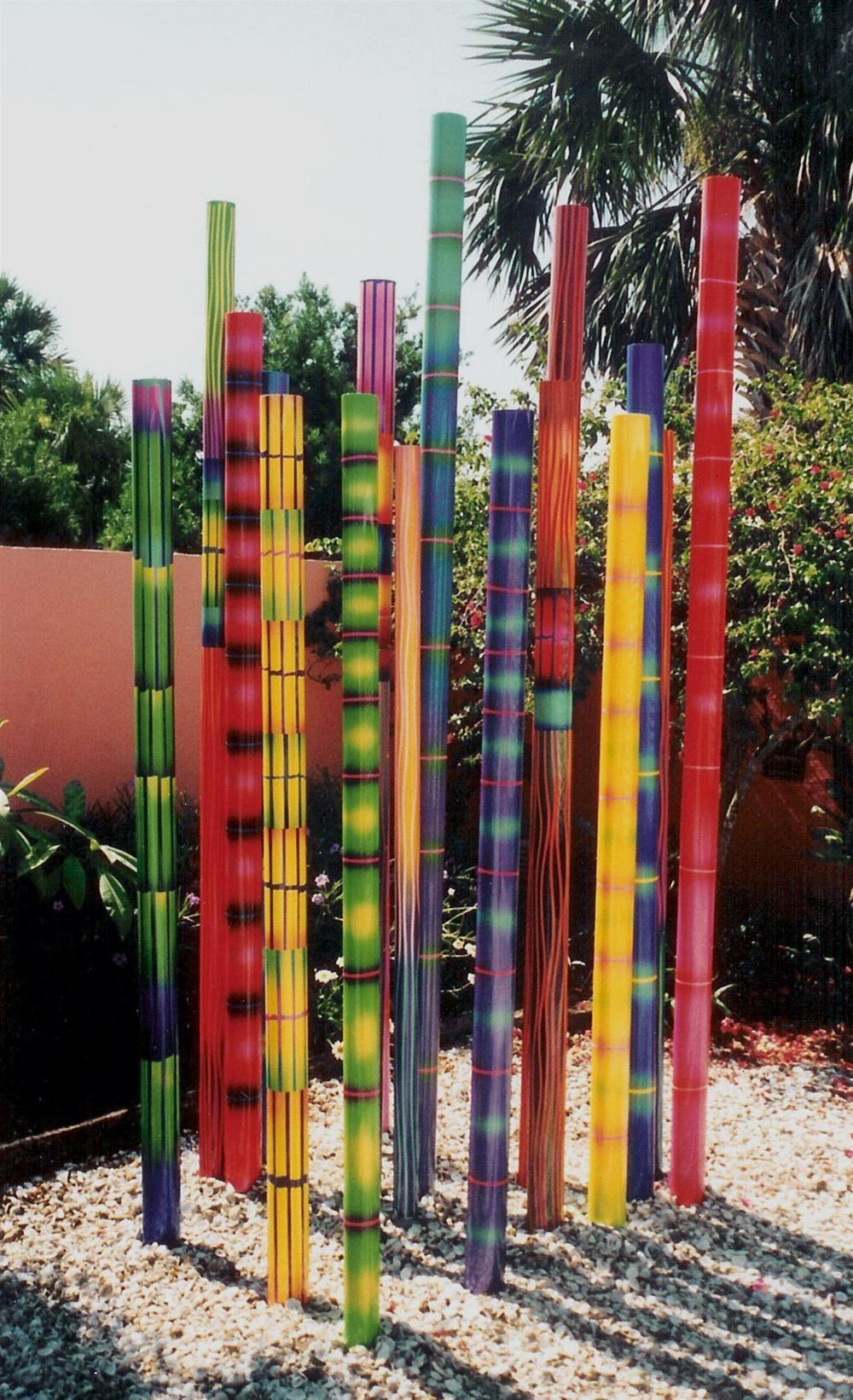 Sculpture These Are Ceramic -Opt. Steel Or Aluminium Tubes ... destiné Deco Jardin Bambou