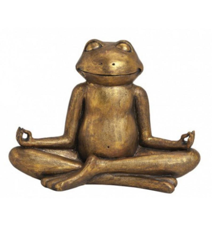 Sculptures Et Statues De Jardin En Pierre De Yoga Grenouille ... avec Decor Jardin Zen