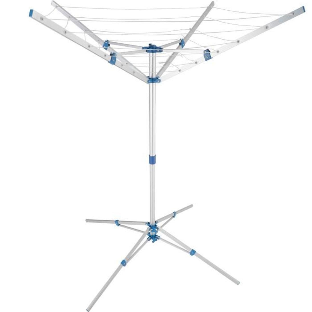 Séchoir Rotatif Aluminium Etendoir Parapluie Cordes À Linge ... concernant Etendoir À Linge De Jardin