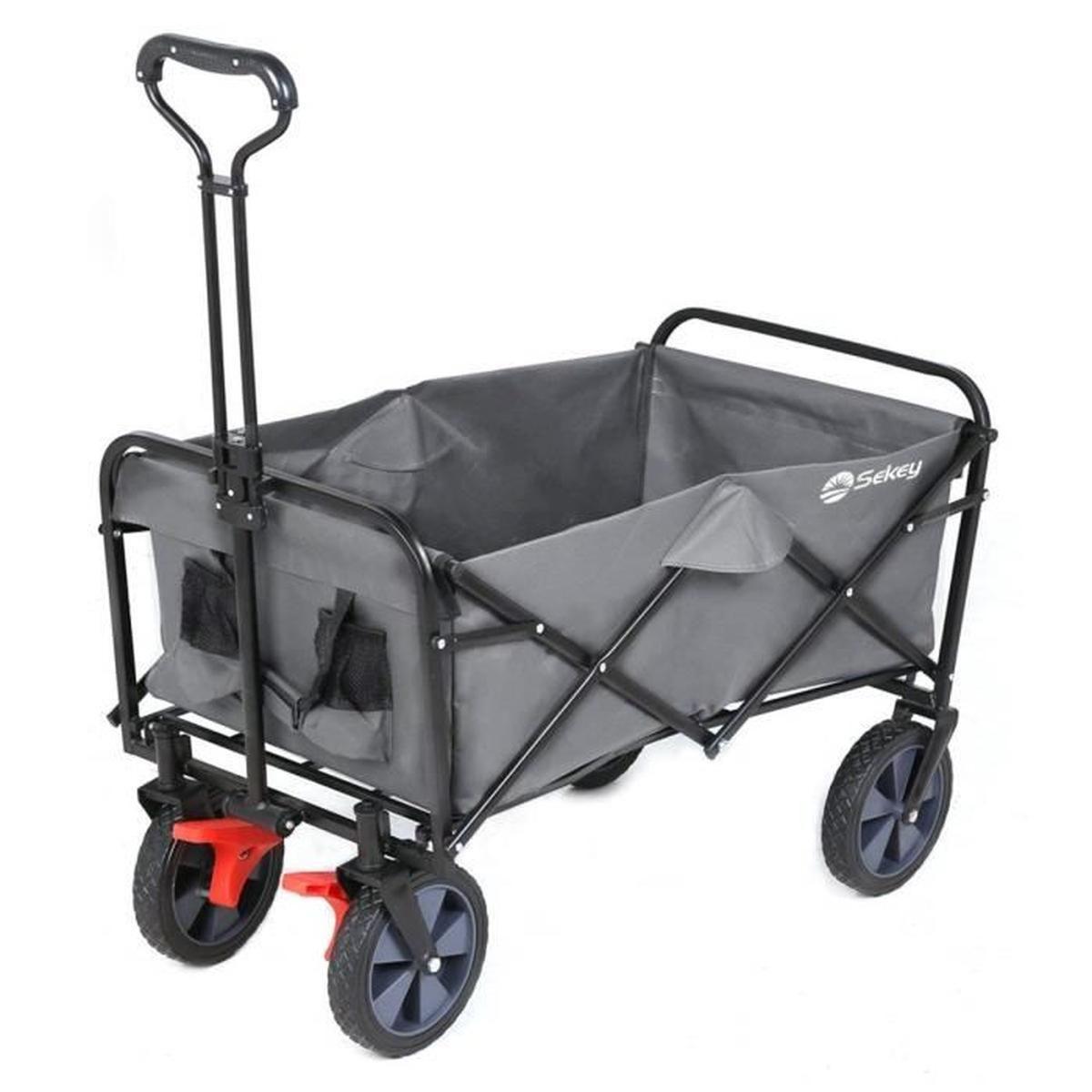 Sekey Chariot De Jardin Pliable Avec Freins | Charrette ... encequiconcerne Chariot Remorque Jardin