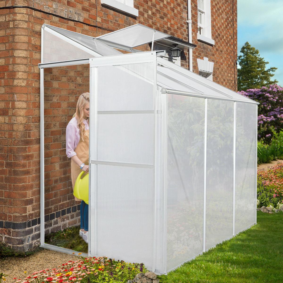 Serre De Jardin 2,3 M² Abri Abri, Adossable En Polycarbonate Aluminium avec Serre Adossable