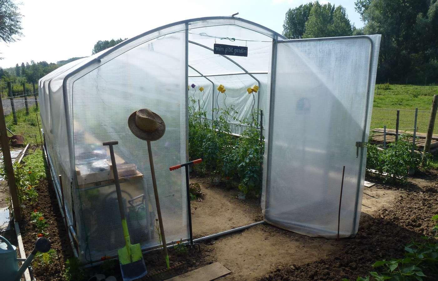Serre De Jardin 4 Saisons Plus 18M2 400 X 450 Cm Et Kit ... intérieur Serre De Jardin 18M2 Polycarbonate