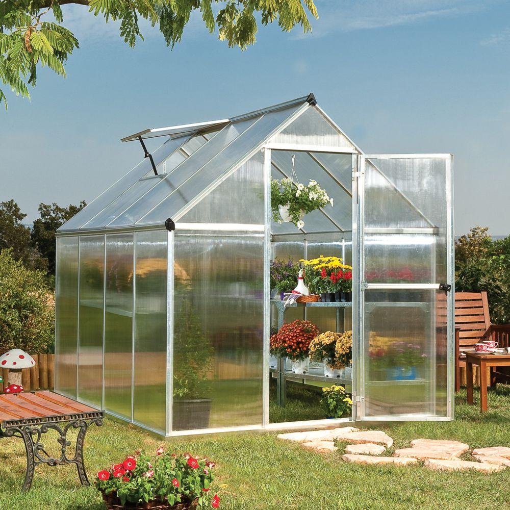 Serre De Jardin 8X4 - Veranda Et Abri Jardin pour Serre De Jardin Polycarbonate Leclerc