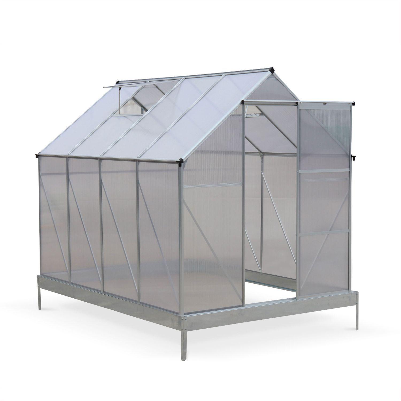 Serre De Jardin Chene En Polycarbonate 5M² Avec Base, 2 ... encequiconcerne Serre Polycarbonate 5M2