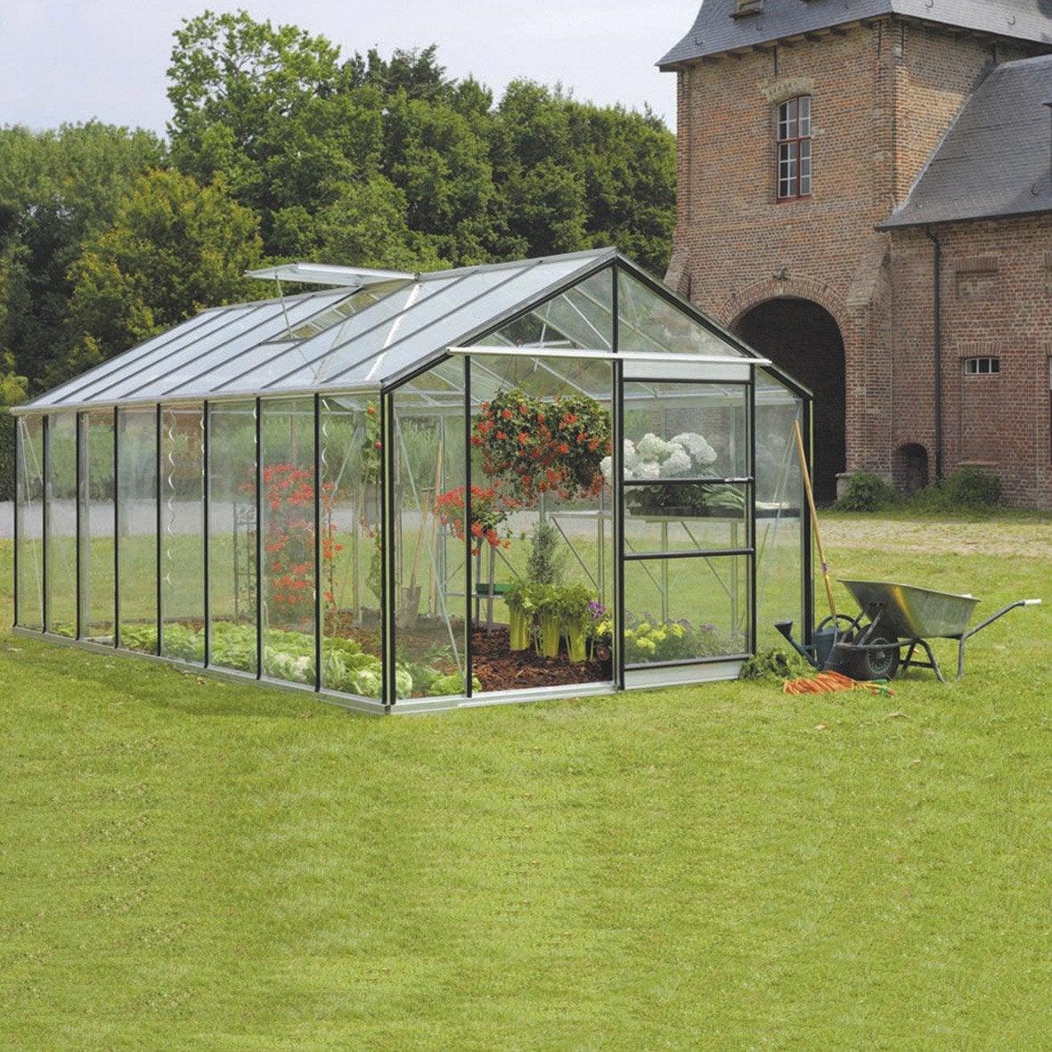 Serre De Jardin En Verre Trempé Affinity, 18.236 M² à Serre Rigide Jardin