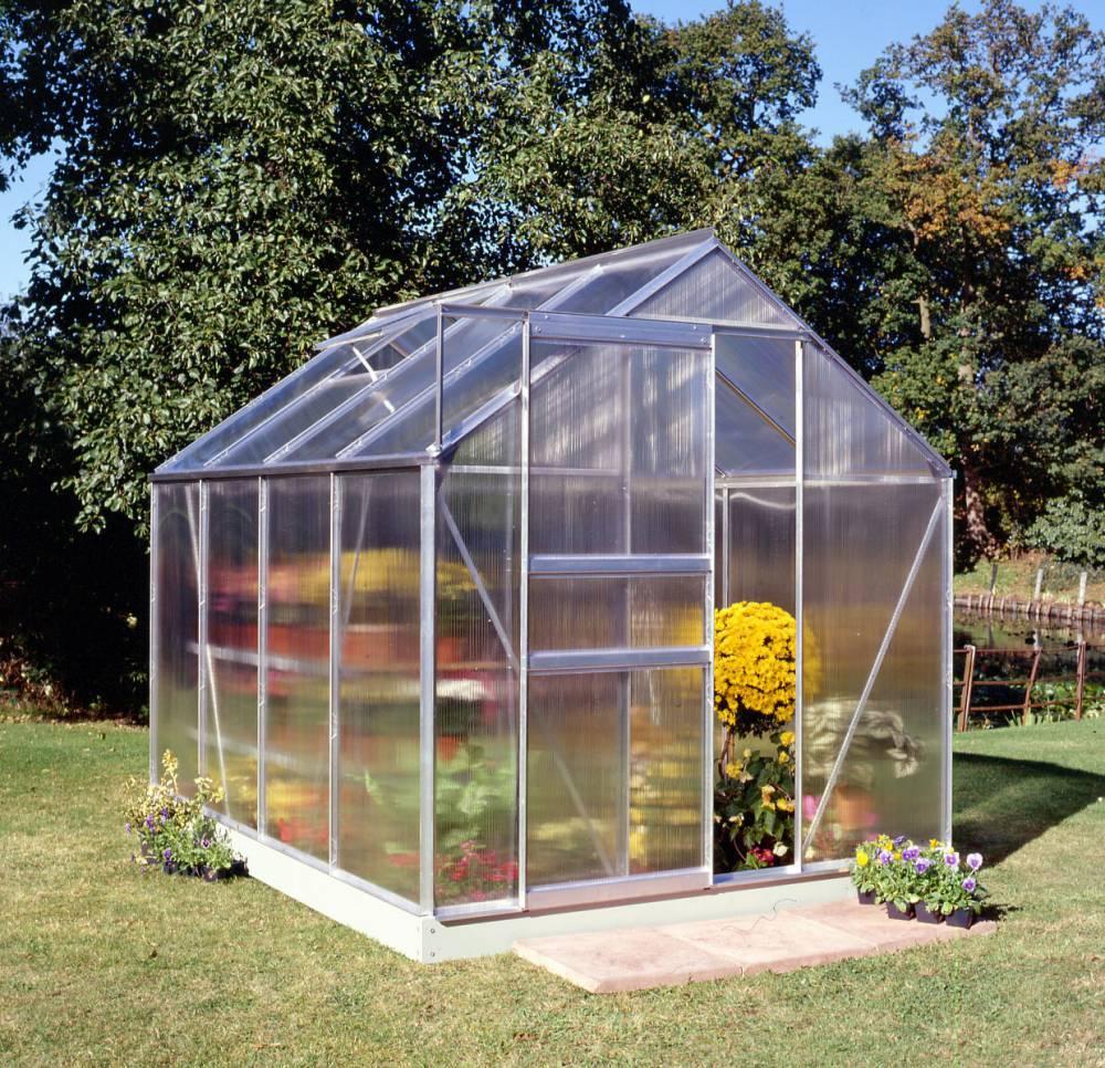 Serre De Jardin Halls Popular 5 M2 + Polycarbonate 4 Mm ... serapportantà Serre Polycarbonate 5M2