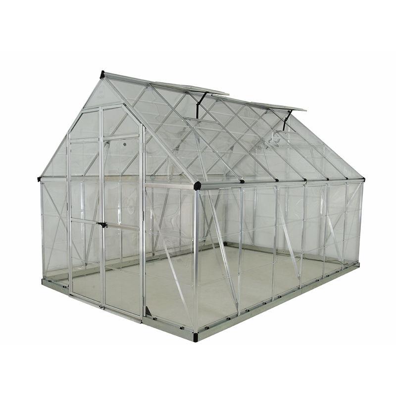 Serre De Jardin Octave 8X12 Argent - 9M² tout Serre De Jardin Polycarbonate 10M2