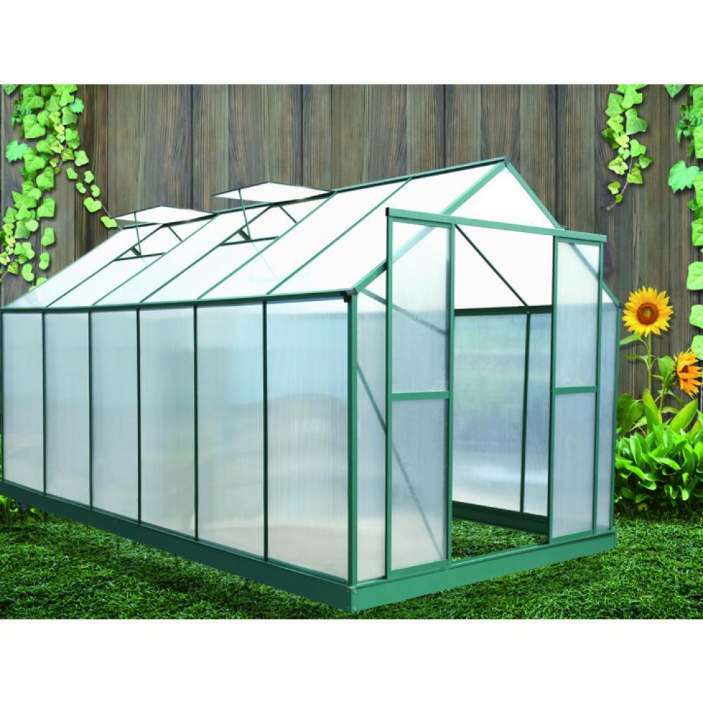 Serre De Jardin Polycarbonate 6 Mm 12,81 M2 Sr4330 Habrita intérieur Serre De Jardin Polycarbonate 10M2