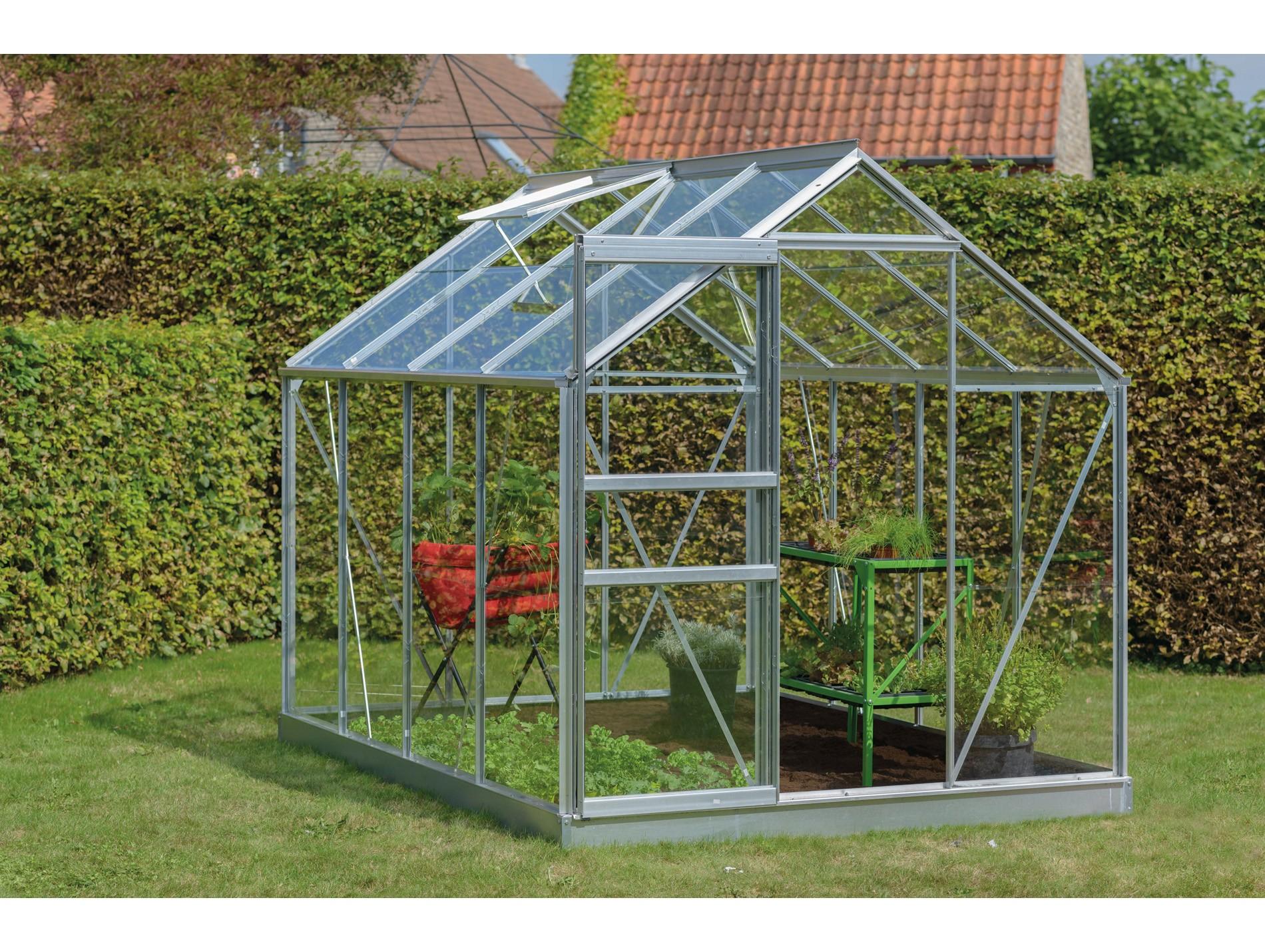 Serre Introgrow Ivy 5M² Verre Securit - Alu - Serre De ... intérieur Verre Pour Serre De Jardin