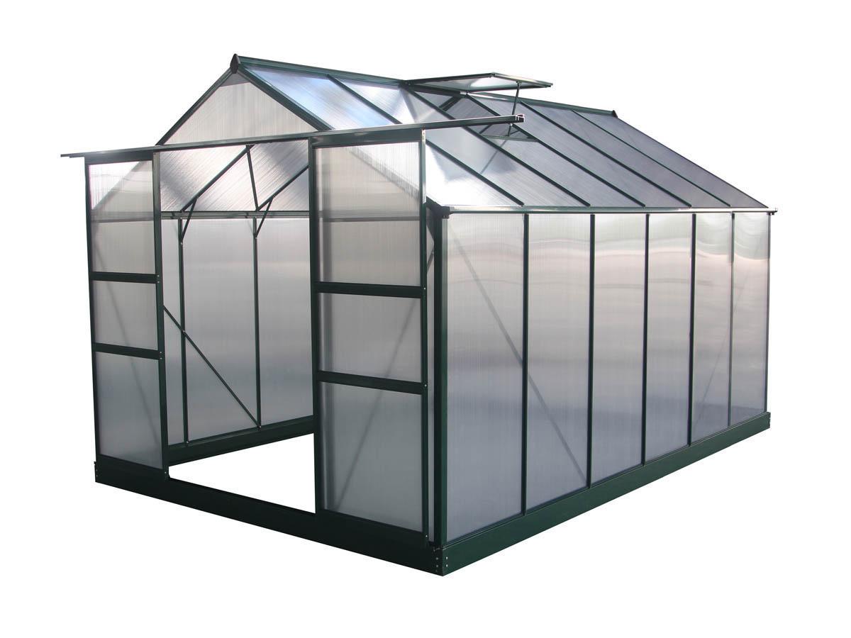 "Serre Jardin Polycarbonate ""dahlia"" Vert Sapin 9,24 M² 69181 encequiconcerne Serre De Jardin Polycarbonate 10M2"