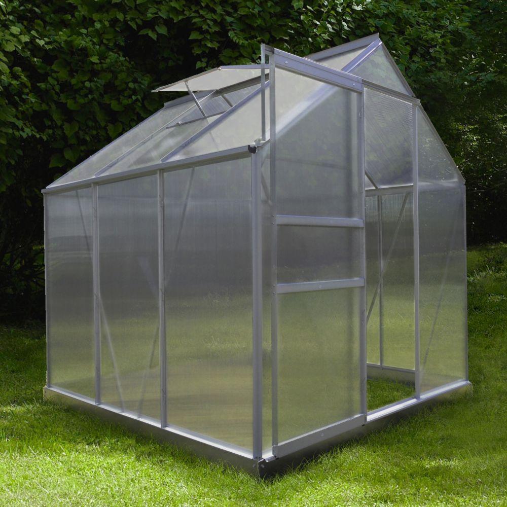 Serre Polycarbonate Diamant Grise 3.6 M² - Châlet-Jardin encequiconcerne Serre Jardin Polycarbonate