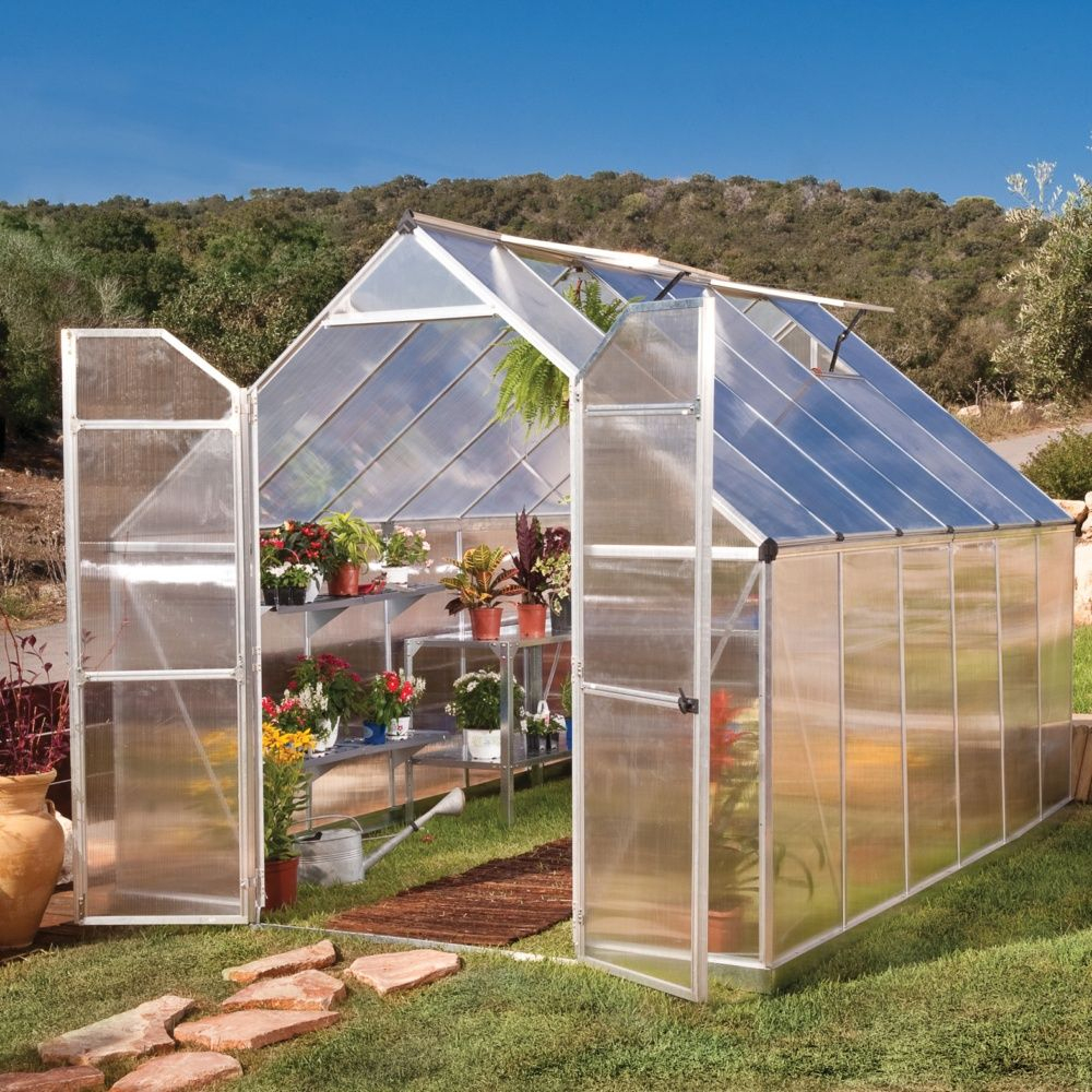 Serre Polycarbonate Essence 8,90 M² + Embase - Palram tout Serre Jardin Polycarbonate