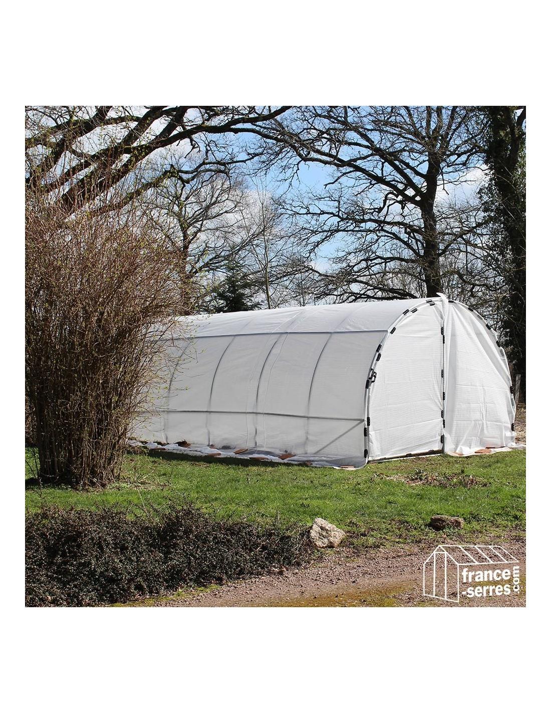 Serre Tunnel De Jardin 18M² Avec 2 Portes dedans Serre Rigide Jardin