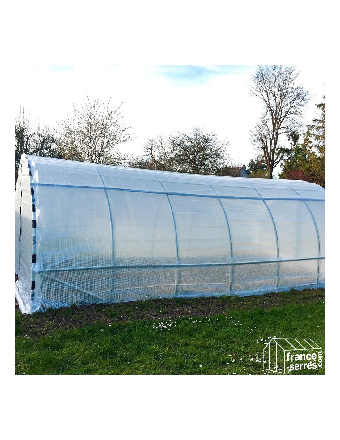Serre Tunnel De Jardin 18M² Avec 2 Portes pour Serre De Jardin 18M2 Polycarbonate