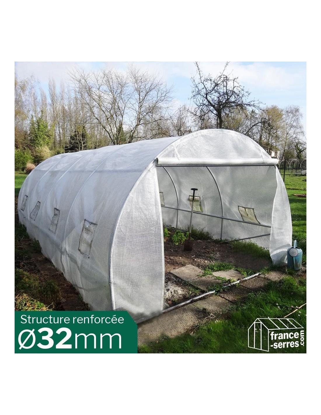 Serre Tunnel De Jardin 18M² Structure 32Mm avec Serre De Jardin 18M2 Polycarbonate