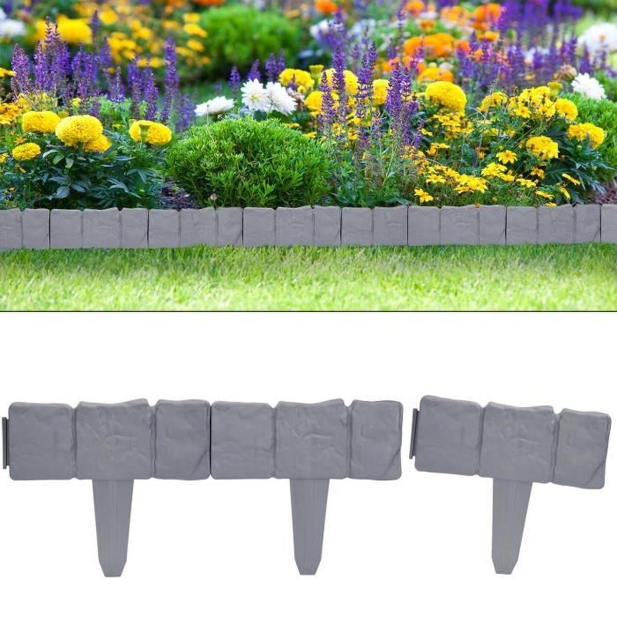 Set Bordure De Jardin, Rebord De Jardin - Aspect Granit 2X ... à Bordure De Jardin Pas Cher