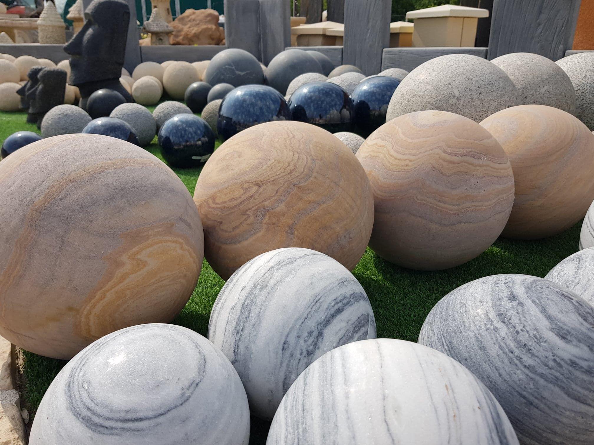 Sphères De Jardin En Granit, Granit Adouci, Terre Cuite ... pour Boule Decorative Jardin