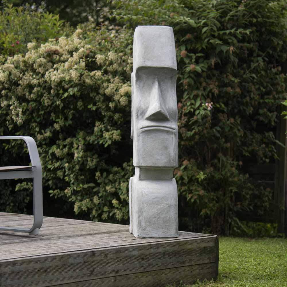 Statue Moaï Île De Pâques Jardin Zen 1M20 concernant Statuette De Jardin