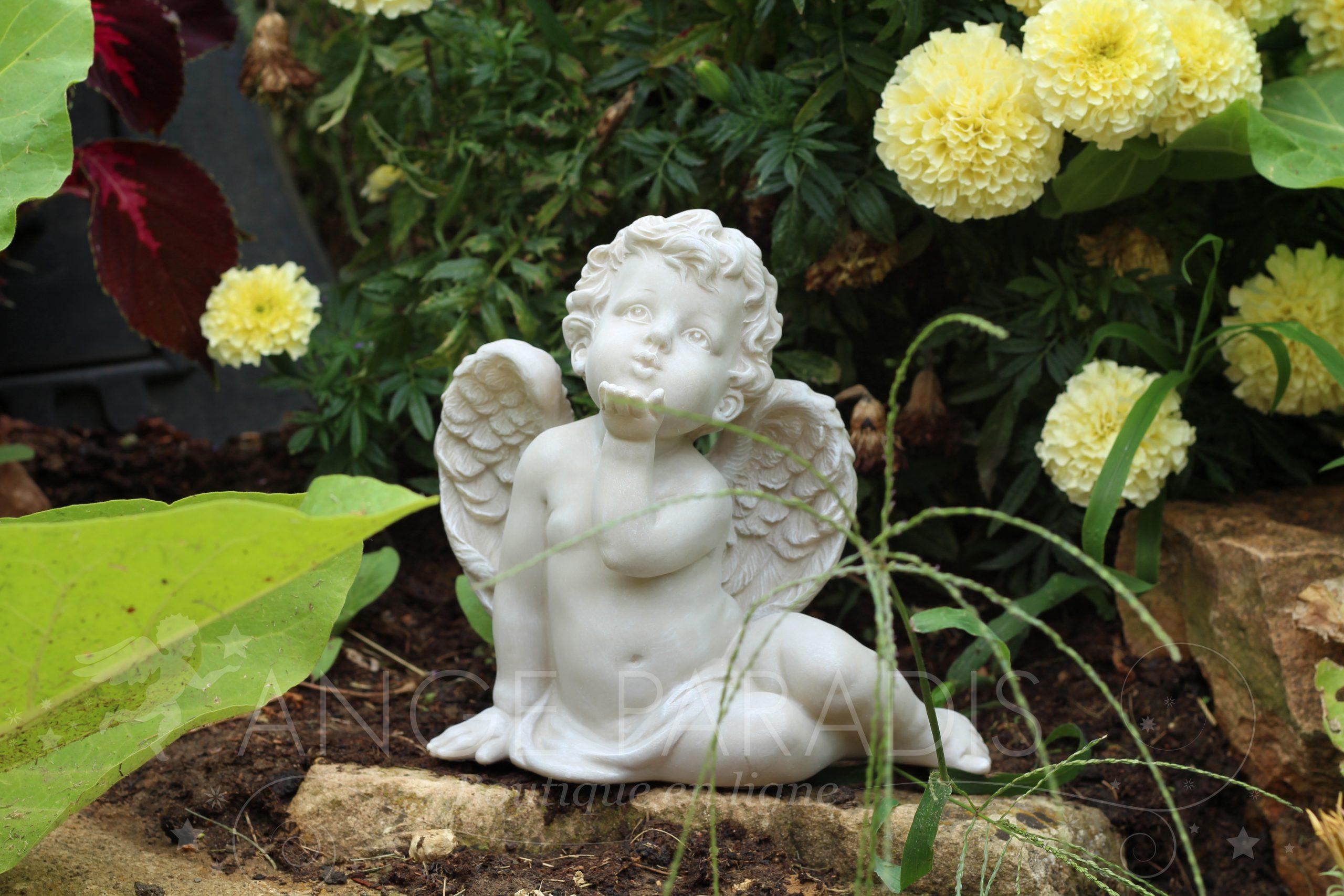 Statuette Ange Exterieur - Statuettes Anges Pour Exterieur ... à Statuette De Jardin