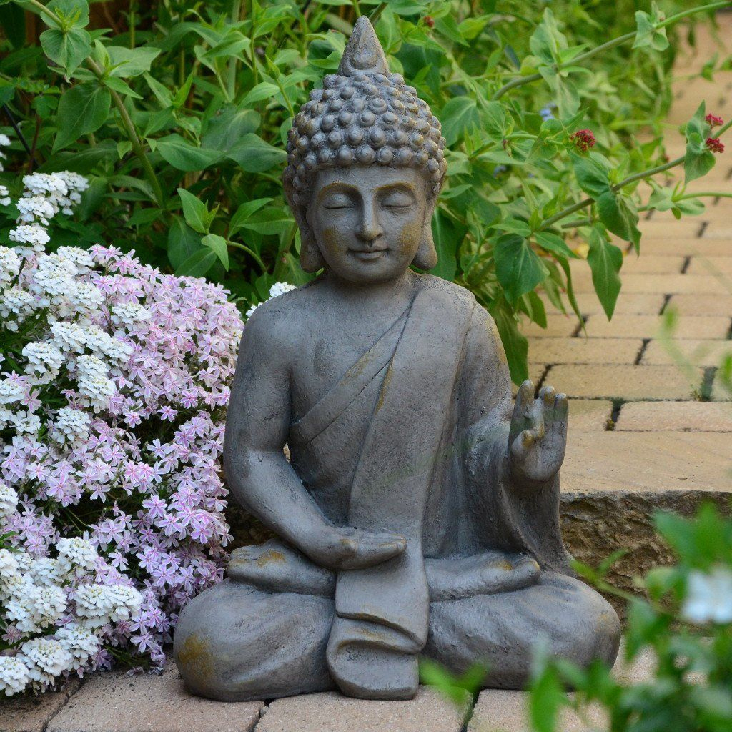Statuette De Bouddha De 54Cm Décoration Zen Pour Intérieur ... concernant Bouddha Pour Jardin Zen