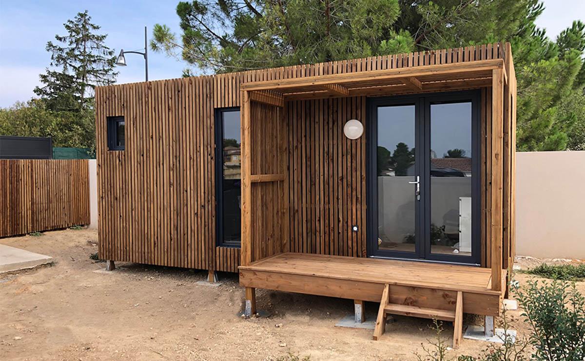 Studio De Jardin En Bois, 20M² à Prix Extension Maison 20M2