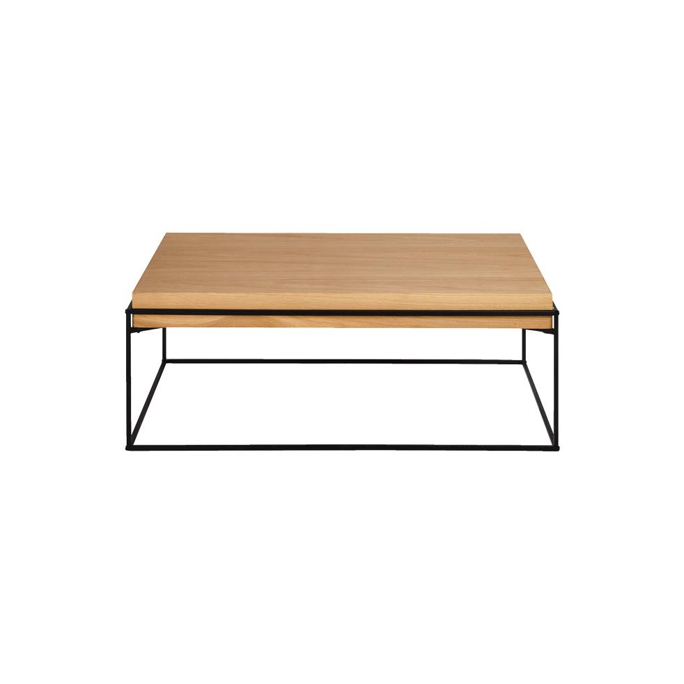 Table Basse En Acier Et Chêne - Alinéa Tendance Hygge destiné Table Basse Alinea