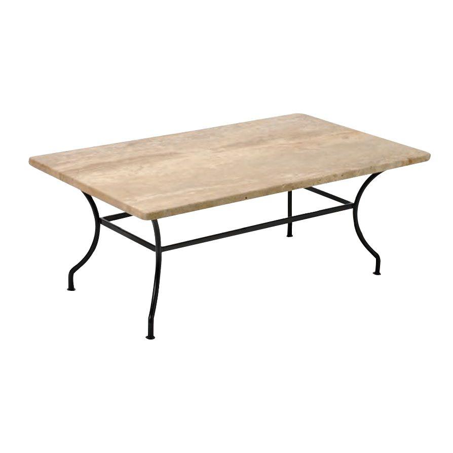 Table Basse Fer Forgé Avec Plateau Marbre Ou Granit serapportantà Table Jardin Marbre Fer Forgé
