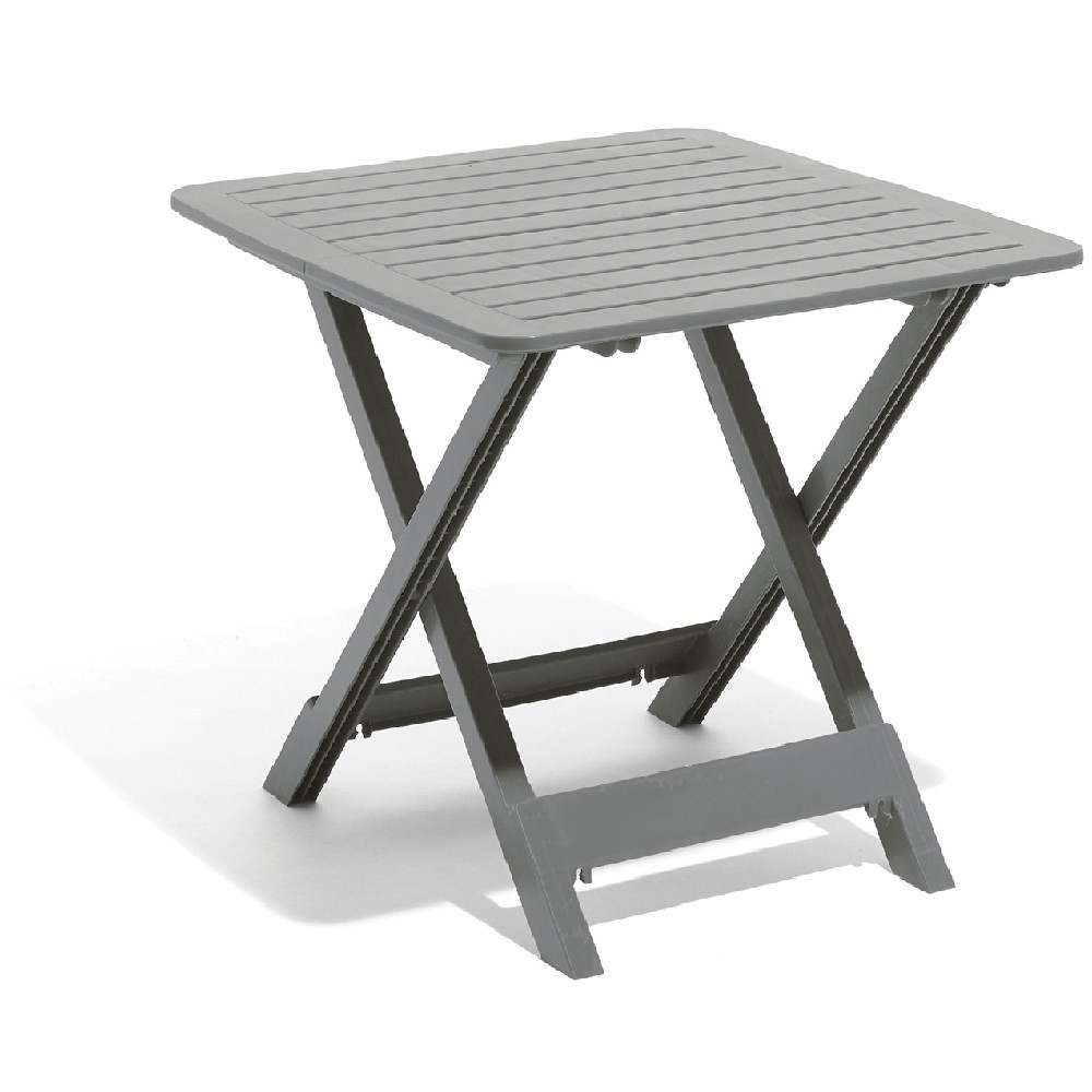 Table De Jardin 2 Personnes Pliante Plastique Gris À Salon ... dedans Table De Jardin Grise