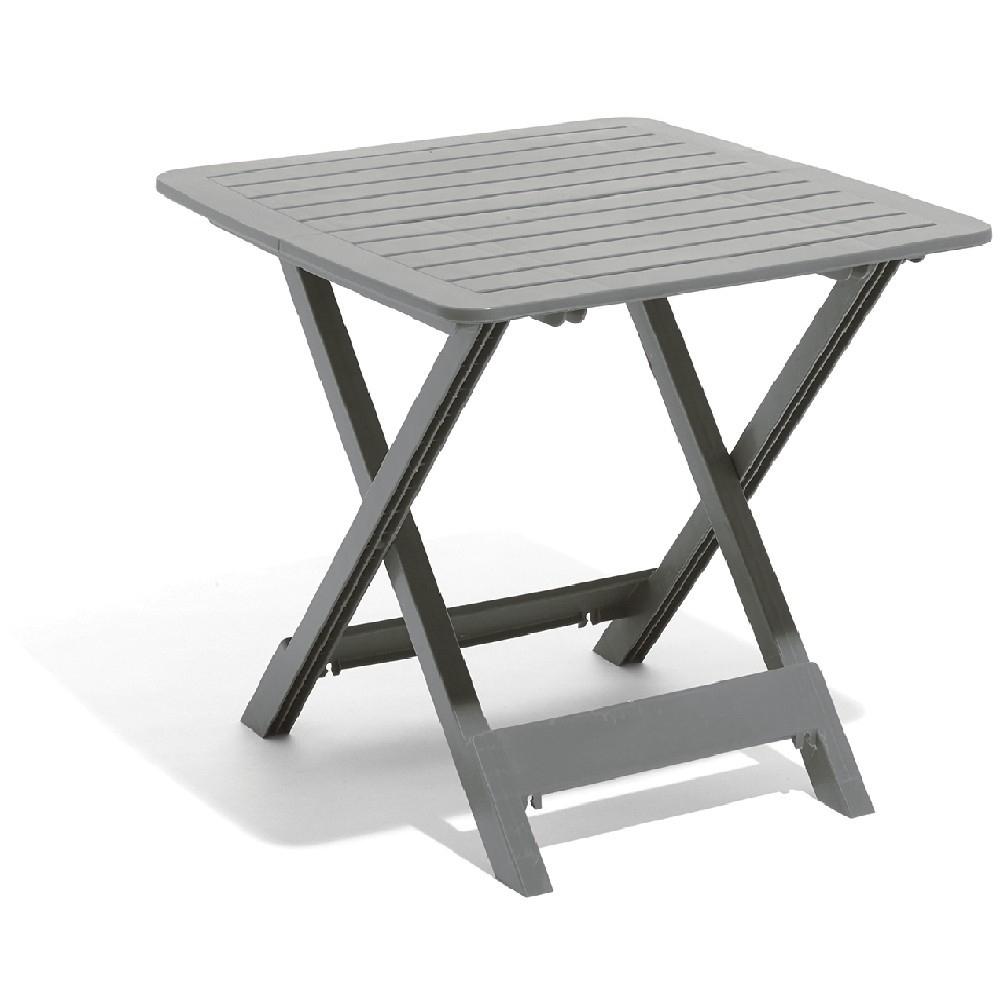 Table De Jardin 2 Personnes Pliante Plastique Gris À Salon ... encequiconcerne Table De Jardin Plastique