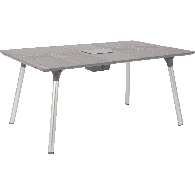 Table De Jardin De Repas Naterial Playmood Rectangulaire ... encequiconcerne Table De Jardin Grise
