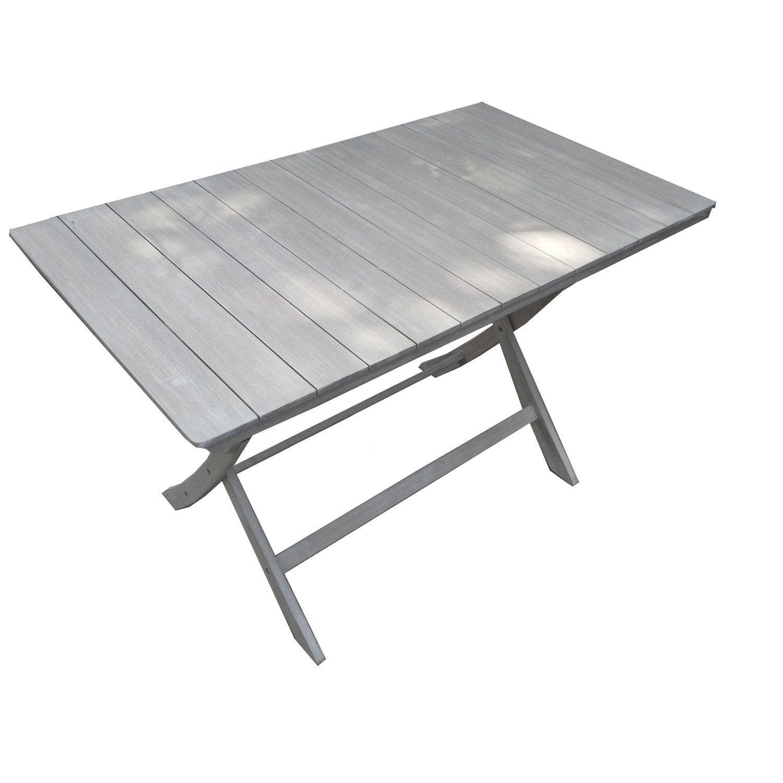 Table De Jardin De Repas Naterial Portofino Rectangulaire ... destiné Table De Jardin Grise