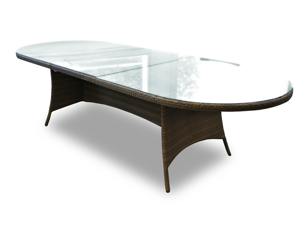 Table De Jardin Ovale Extensible Résine Tressée Wicker ... encequiconcerne Housse De Table De Jardin Ovale