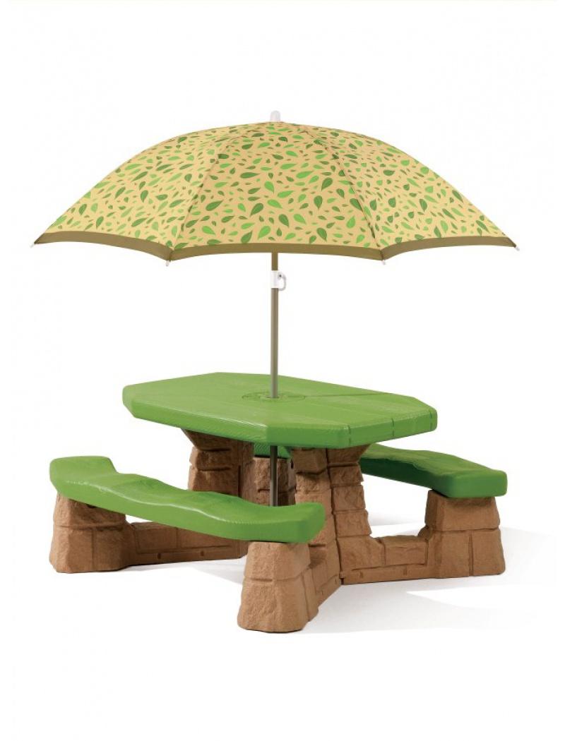 Table De Pique-Nique Naturally Playful - Brun avec Table Jardin Enfants