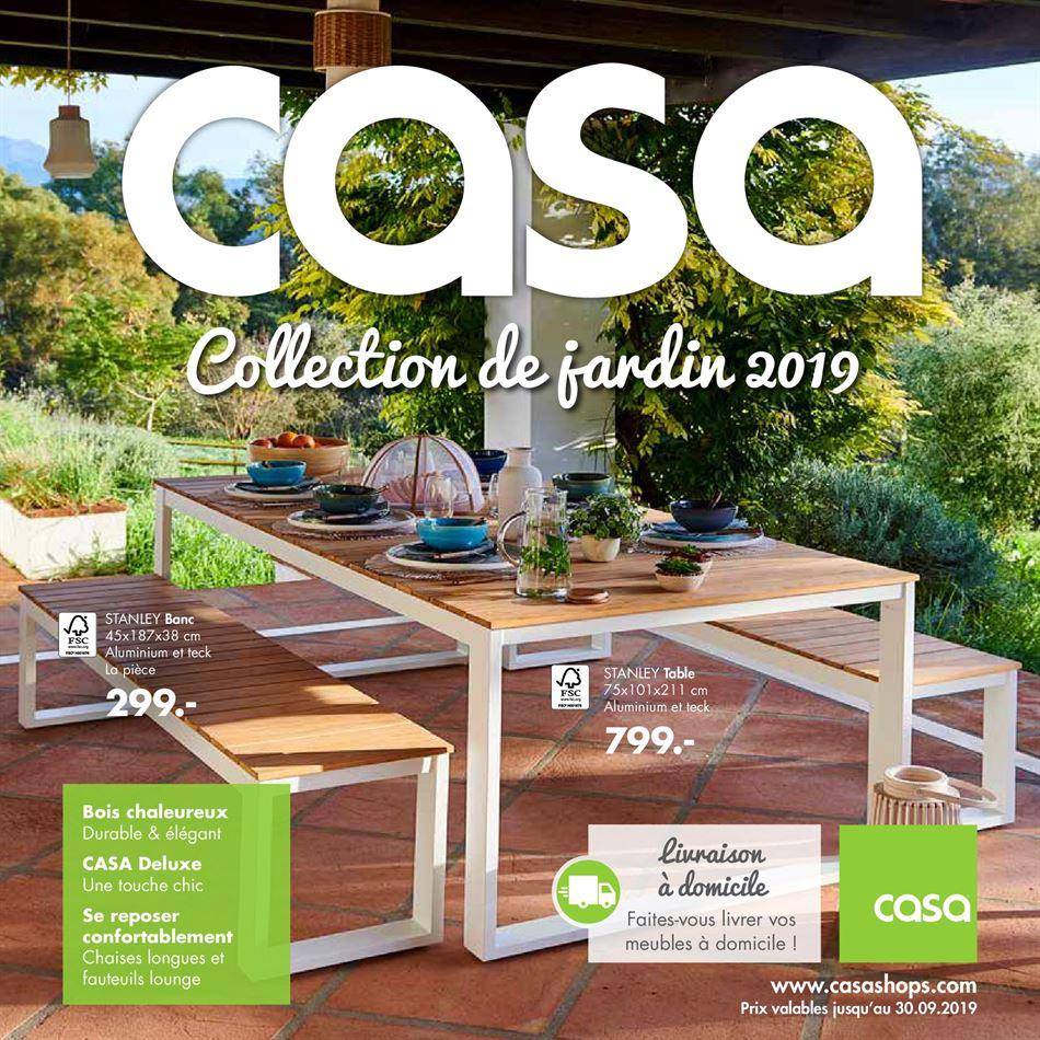 Table Et Chaise De Jardin Aluminium Élégant Casa – Dépliant ... tout Table Jardin Casa