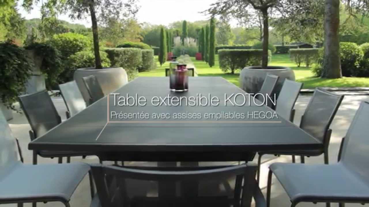 Table Extensible Koton - Les Jardins© Tables De Jardin Haut De Gamme pour Table De Jardin Extensible