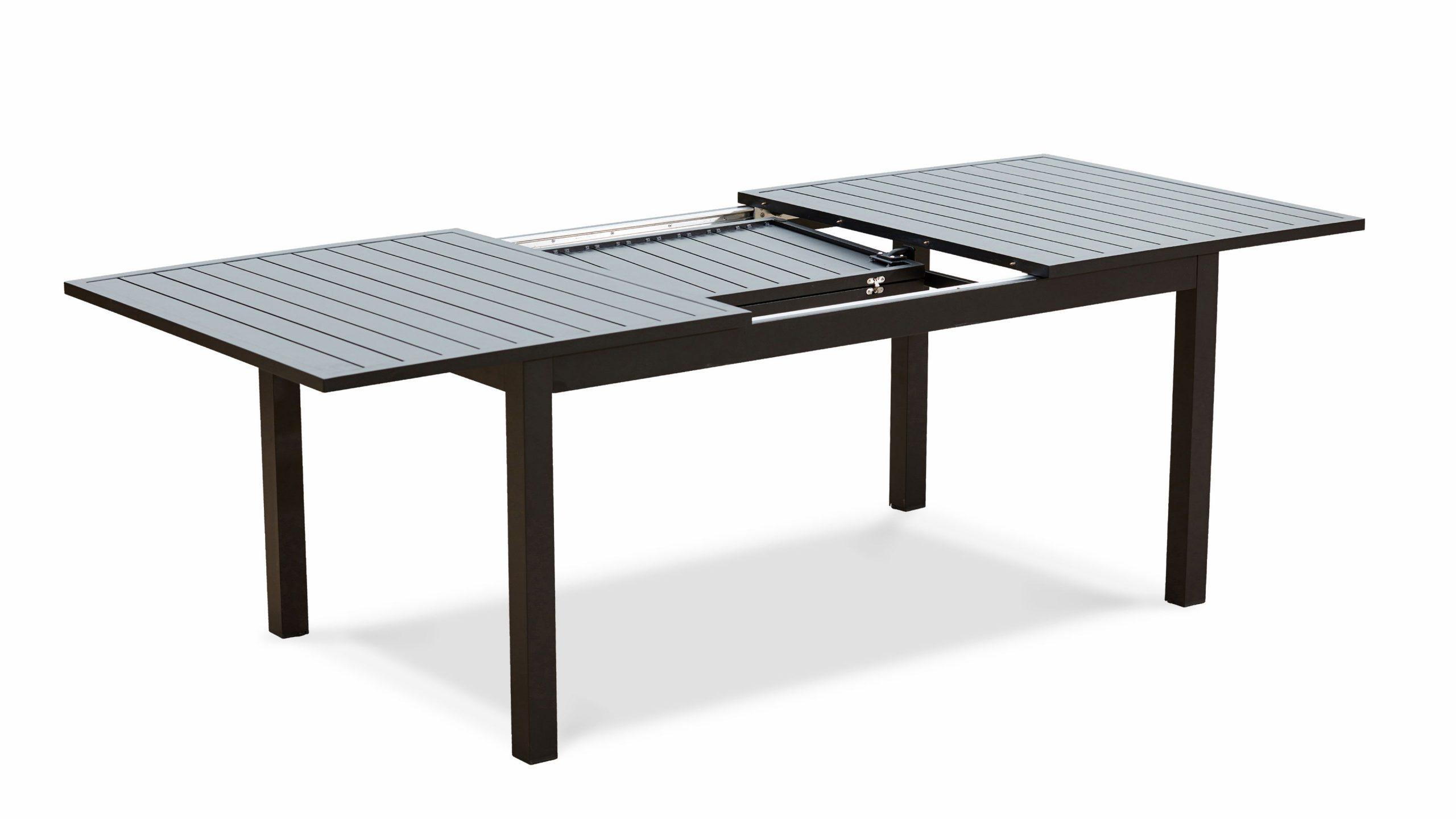 Table Jardin Extensible Rallonge 174/238 Cm Aluminium serapportantà Table Jardin Noire