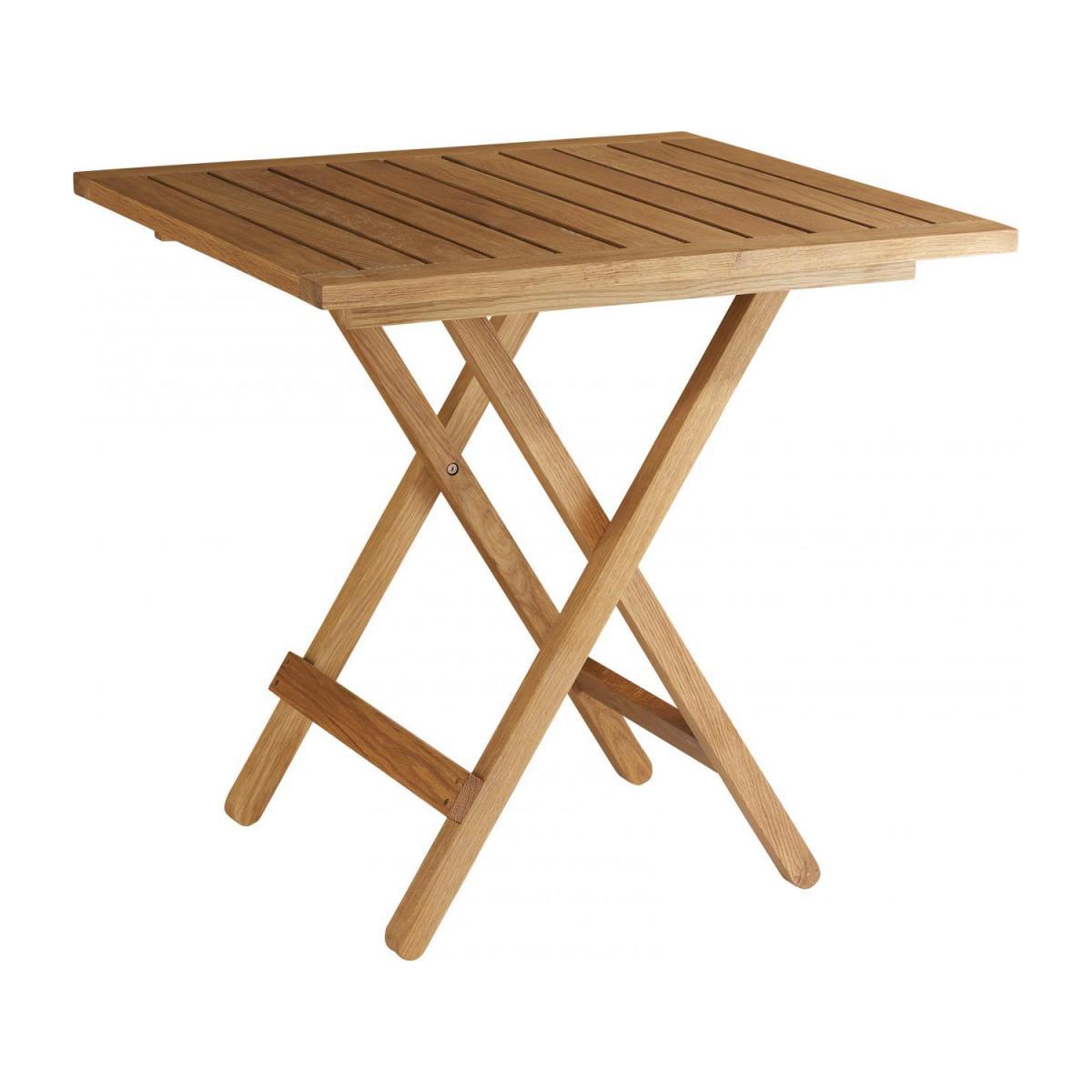 Table Pliante De Jardin En Chêne Massif Huilé - 76 X 76 Cm à Table De Jardin Pliante