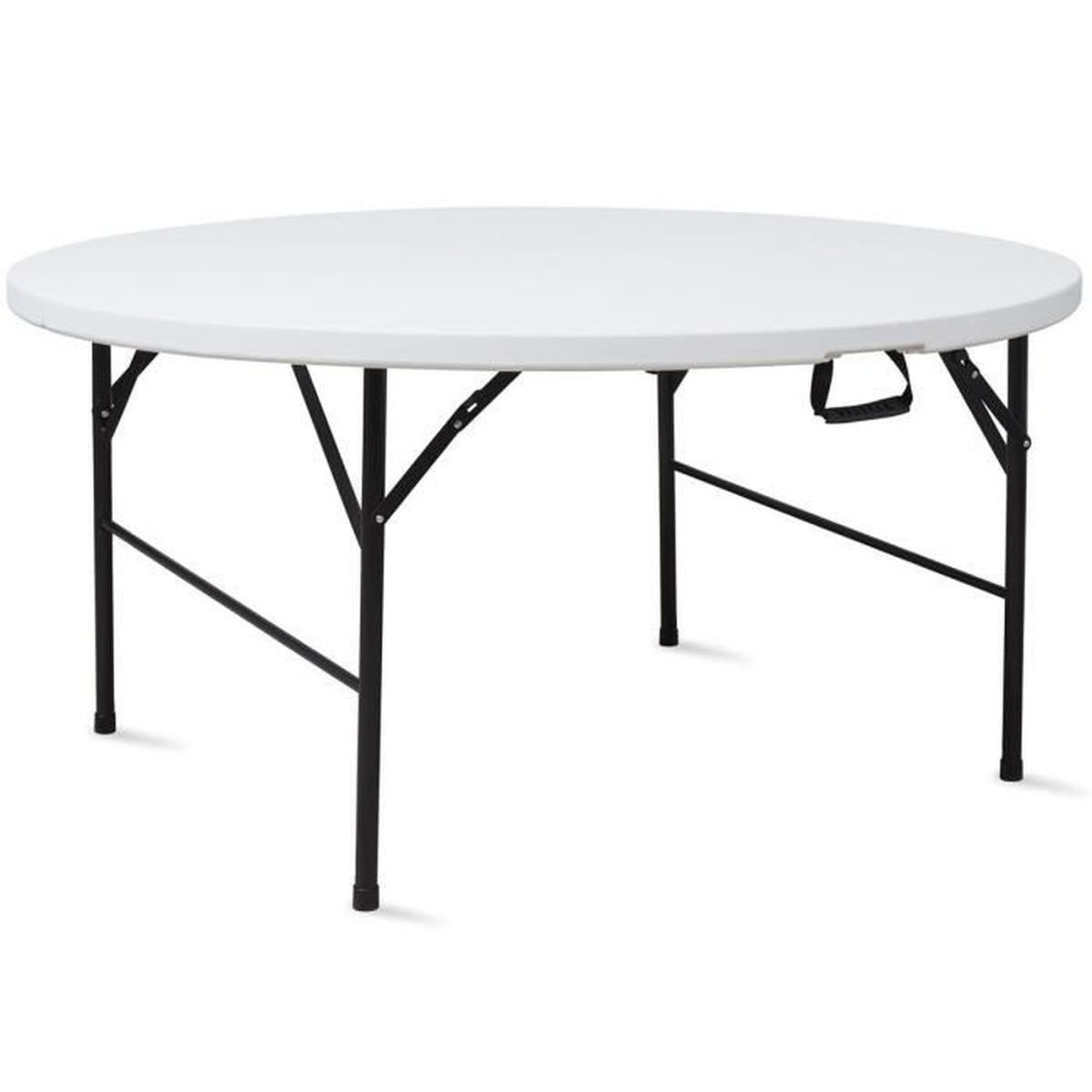 Table Pliante Ronde 180 Cm Portable - Achat / Vente Table De ... intérieur Table Ronde Jardin Pas Cher