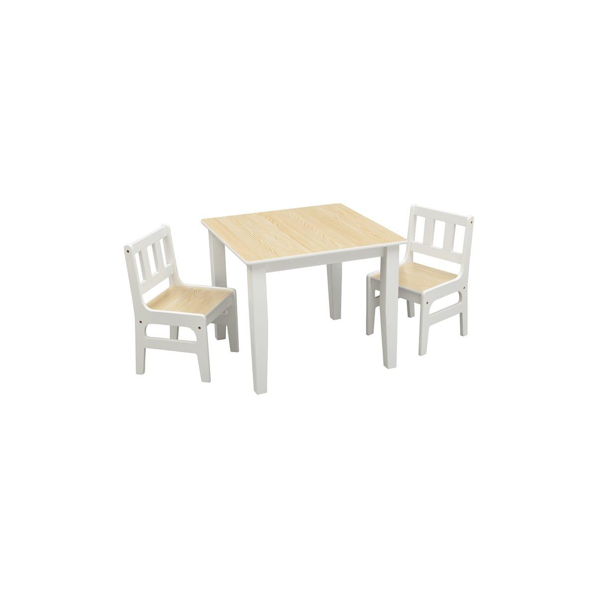 Table Rectangulaire + 2 Chaises Pour Enfants Twin Auchan ... intérieur Auchan Chaise
