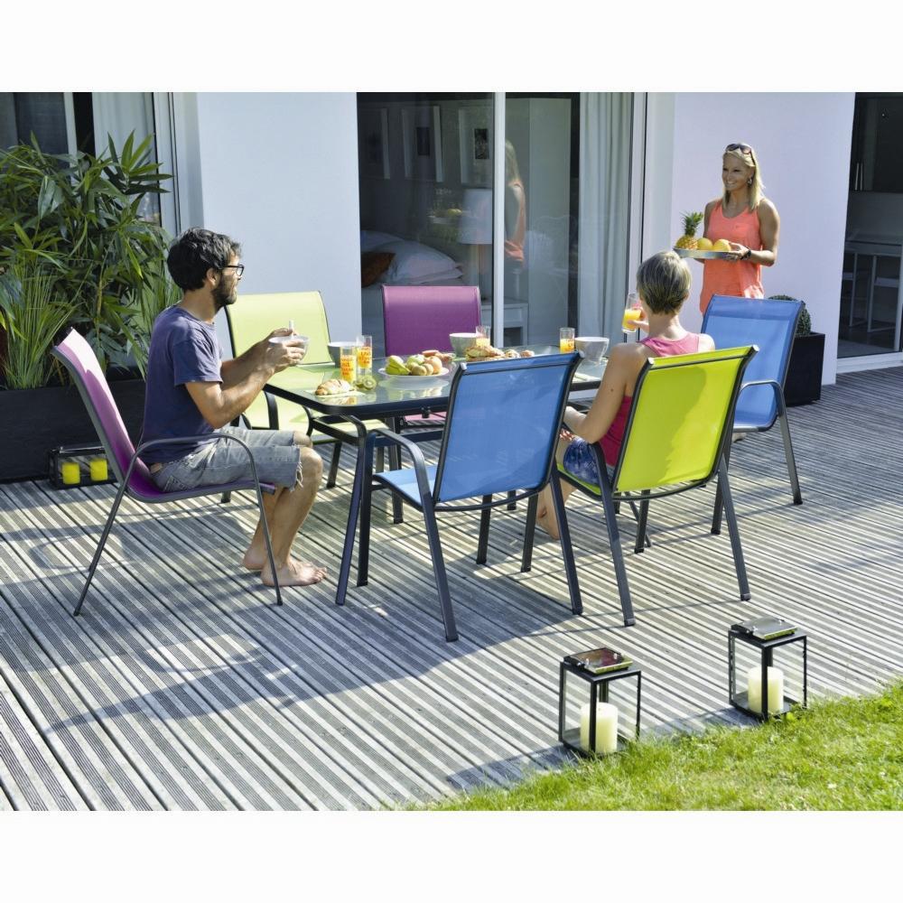 Table Rectangulaire Extérieur En Acier Chicago Anthracite destiné Table De Jardin Bricorama